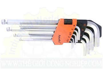 9 pcs hex key sets AK-410 ASAKI