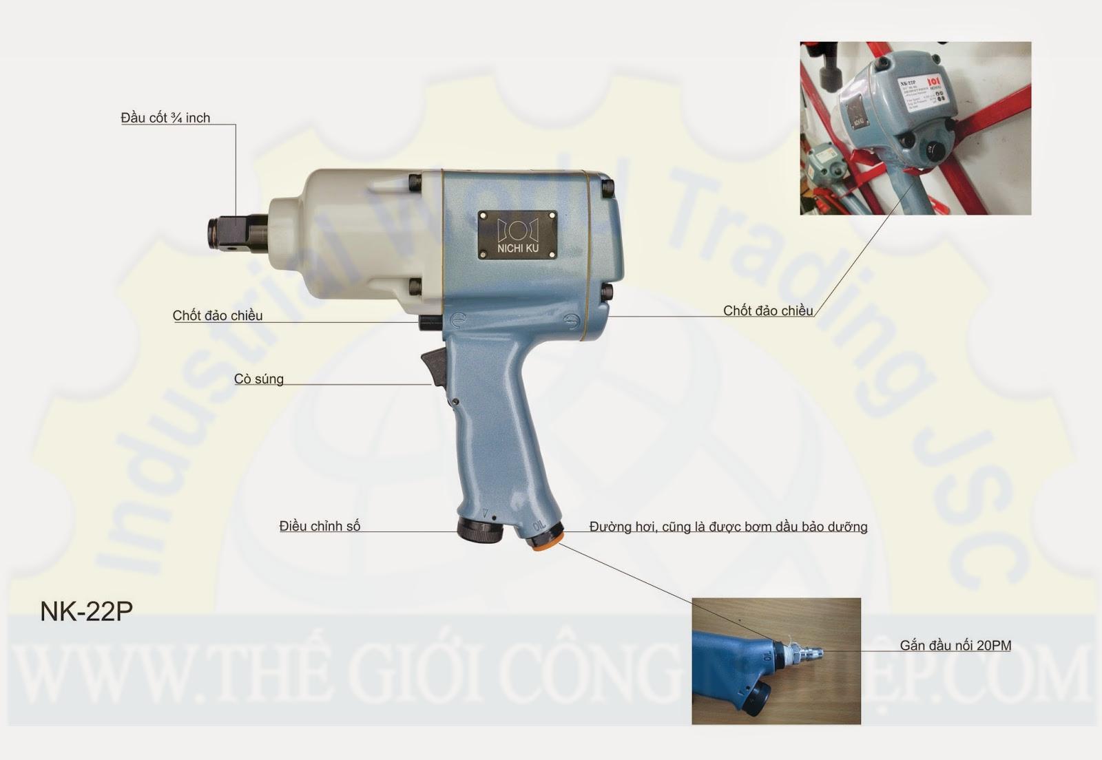 Gun screw  2 hammer NK-22P (3/4'') NichiKu