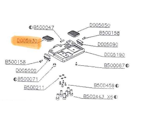 Locking strap plate ITA-14 D005930 Itatools