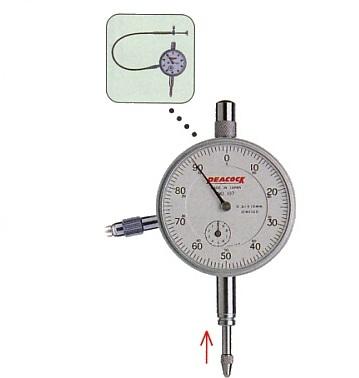 Standard dial gauges 107F-RE PEACOCK