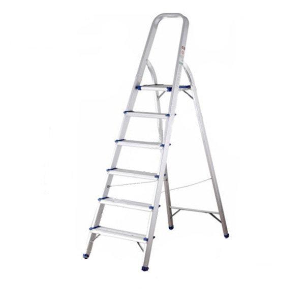 Aluminum ladder handrail 6 steps TAL06 1,2m NIKITA