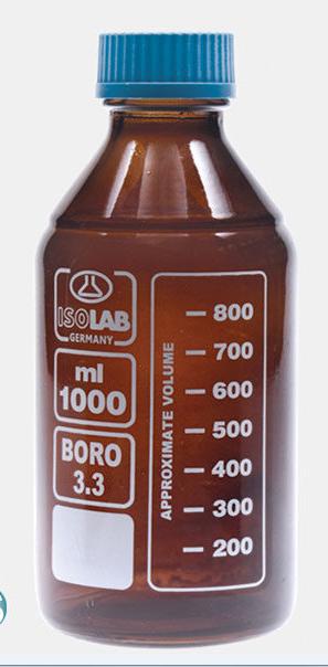 Amber Bottle Glass 061.02.500 ISOLAB