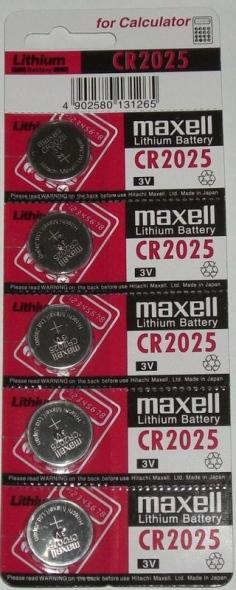 battery CR2025 Maxell
