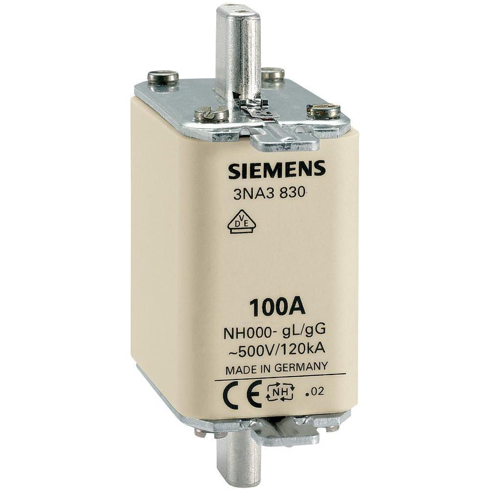 Centred Tag Fuse 3NA3830 100A-500V Siemens