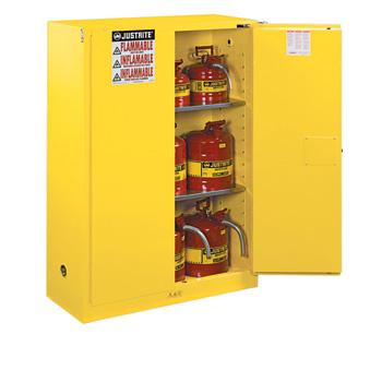 Justrite 45 Gallon Cabinet Self Closing Yellow Flammable Safe Sure-Grip® EX Justrite 894520 894520 Justrite
