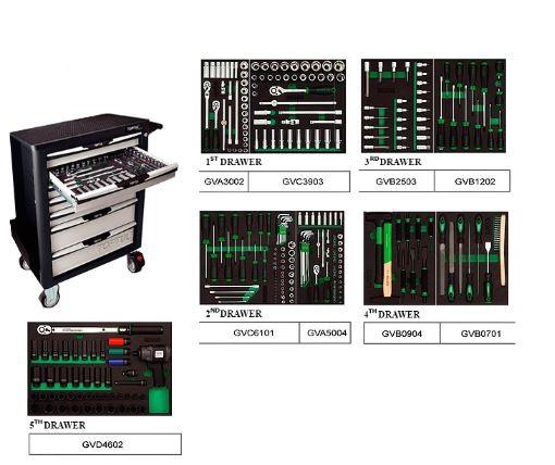 7 compartments GV-27909 Toptul