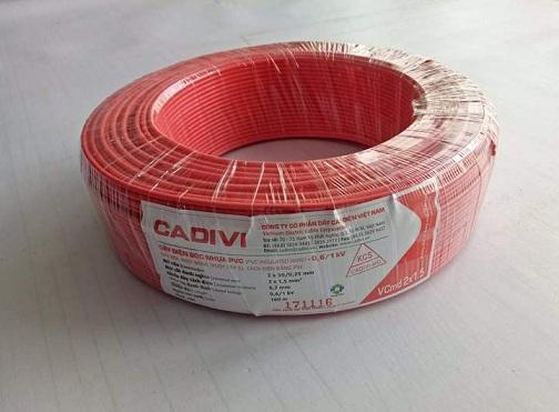 cable VCMD 2X1.5 (mét) màu đỏ CADIVI