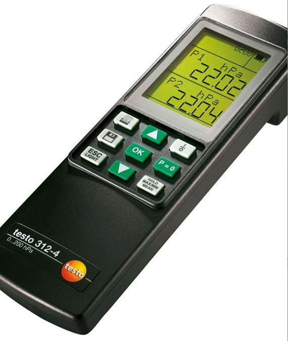 Differential pressure gauge 312-4 Testo