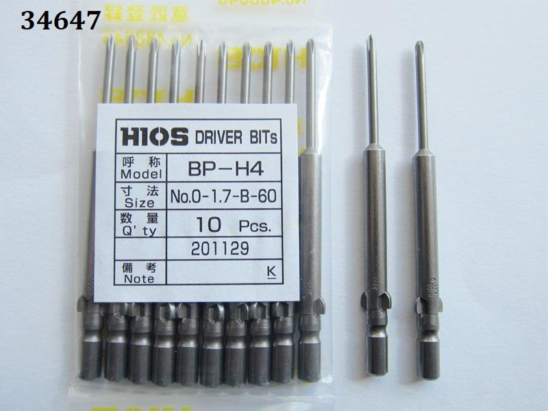 Screwdriver Bp-H4 #No.0-1.7-B-60 Hios