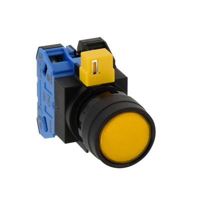 Nút nhấn tròn có đèn phi 22 màu xanh HW1L-M110Q4Y IDEC