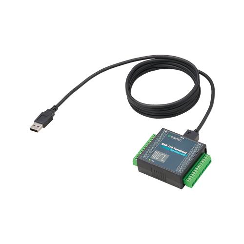 USB 2.0-compatible digital I/O terminal DIO-0808LY-USB CONTEC