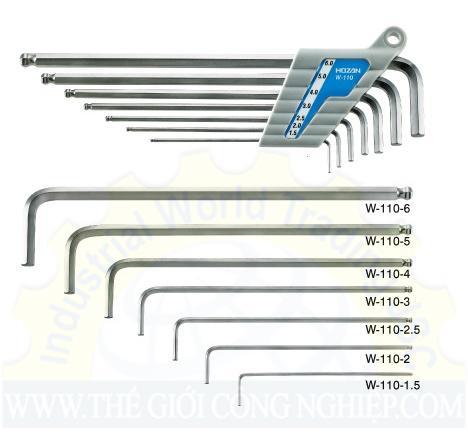 Ballpoint L-Wrench Set W-110 Hozan W-110 Hozan