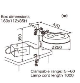 Illuminated Magnifier LEKs WIDE- ST 2X OTSUKA