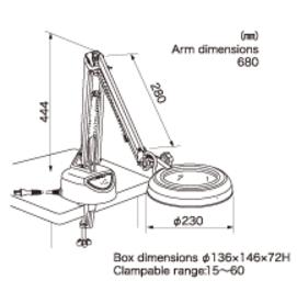 Illuminated Magnifier SKK-CF 2X OTSUKA