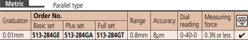 Dial Test Indicator 513-284G MITUTOYO