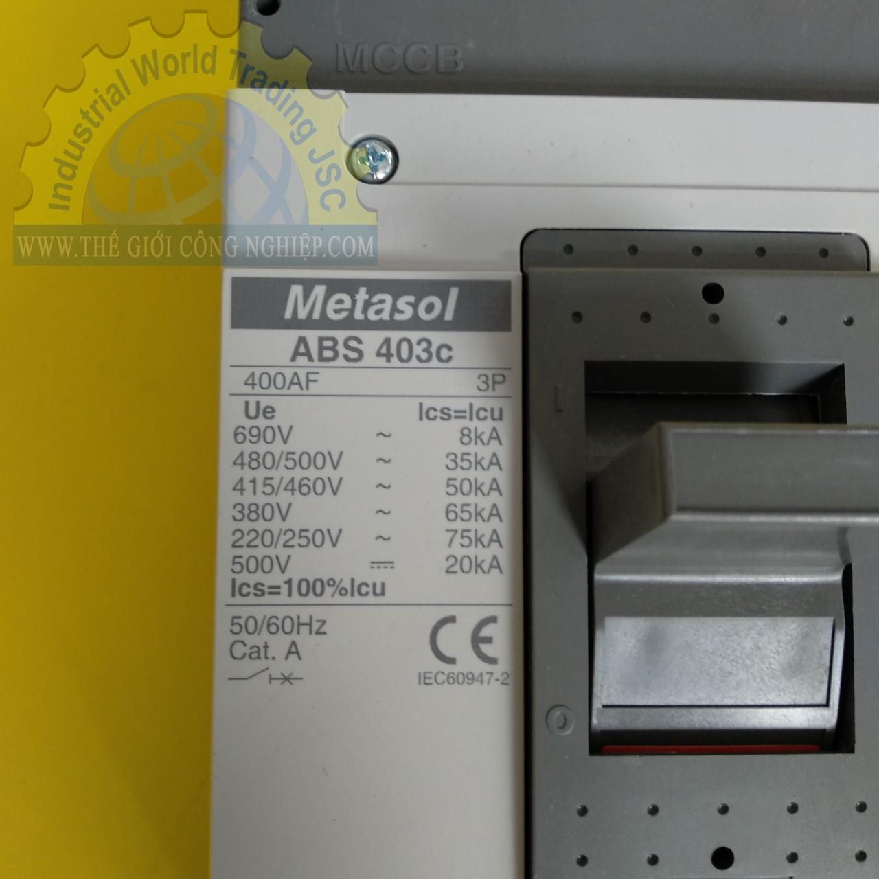 MCCB 3P LS ABS403c 400A (65kA) ABS403C 400A (65kA) LS