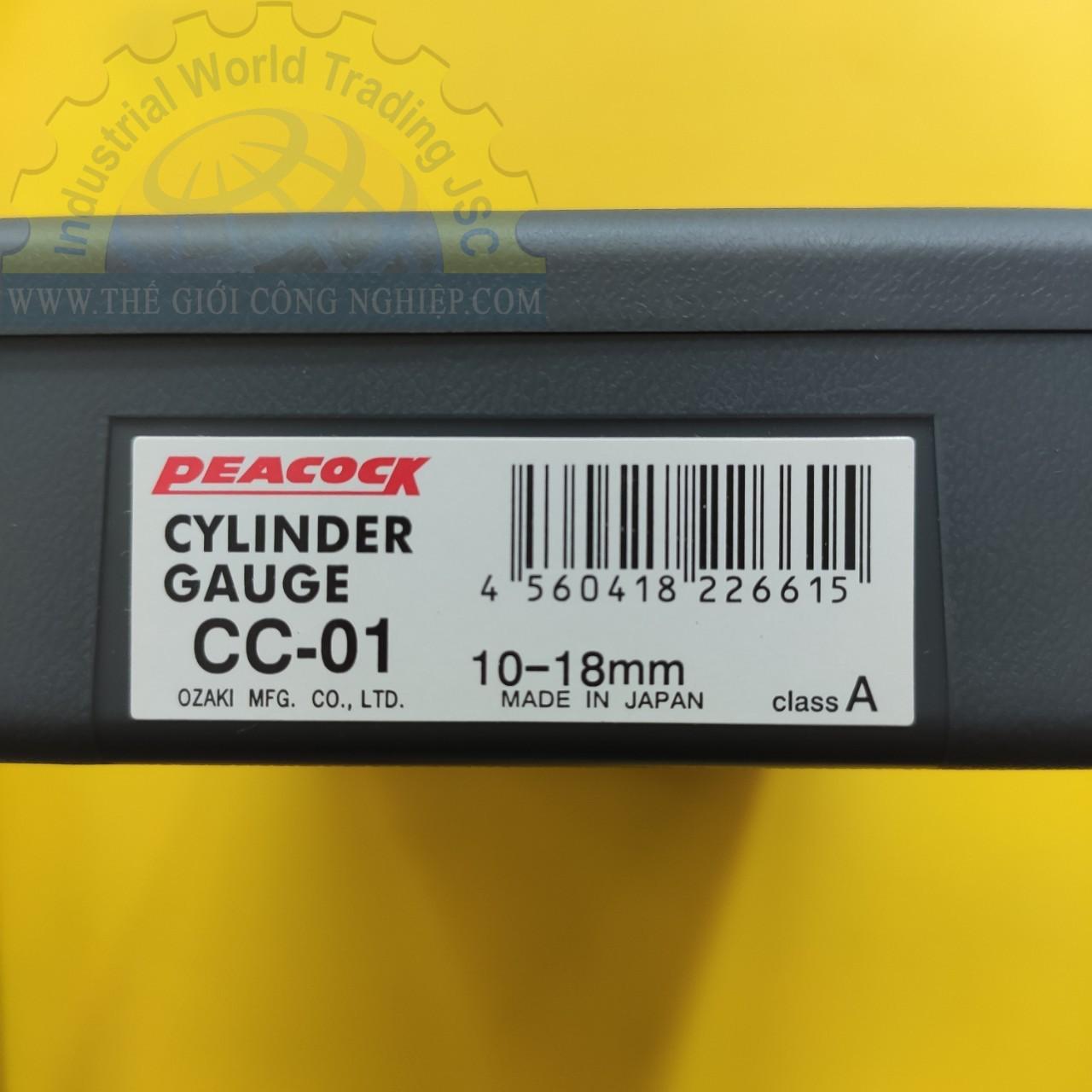 Standard Cylinder Gauges 10-18mm CC-01 PEACOCK
