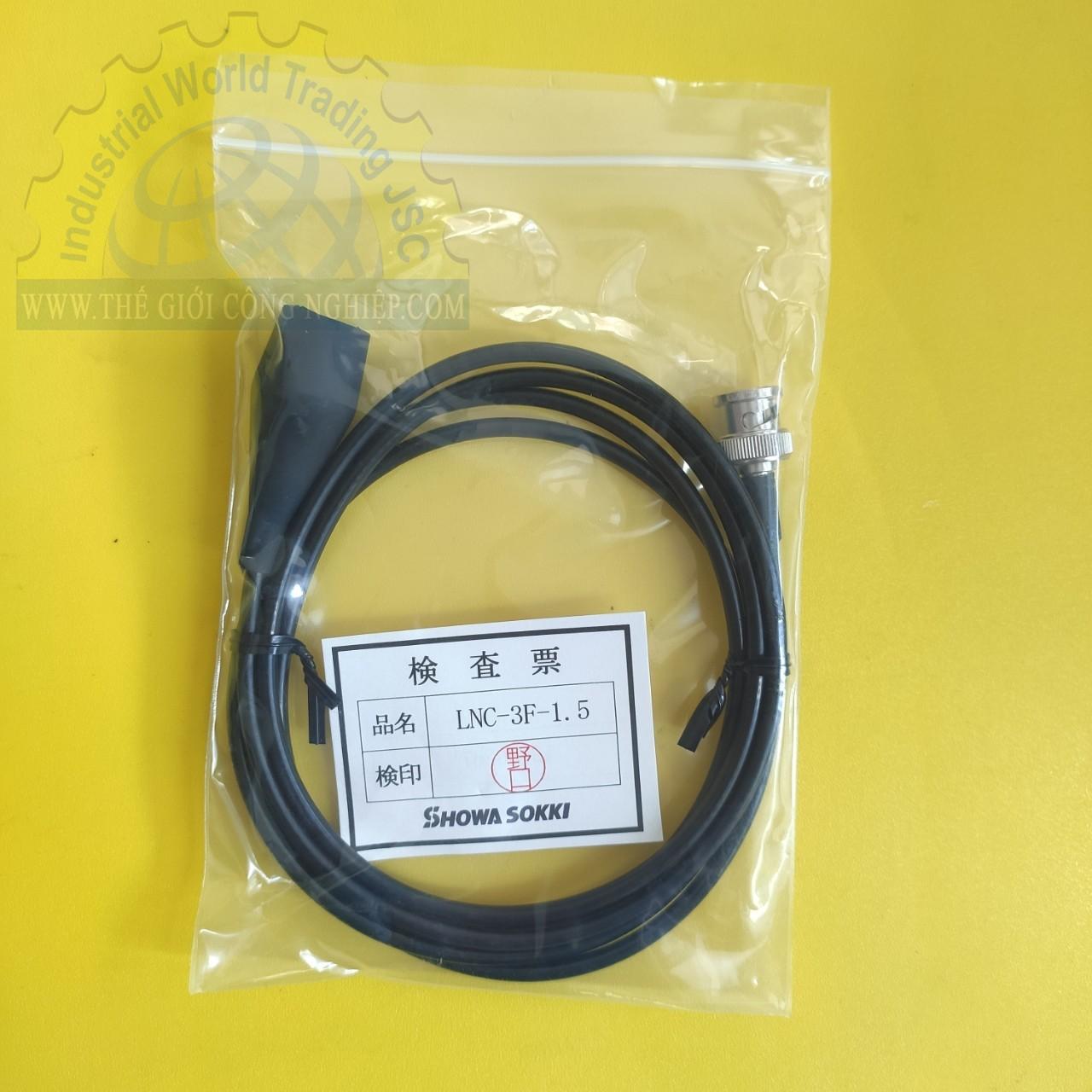Cable for Vibration Meter LNC-3F-1.5 Showa-Sokki