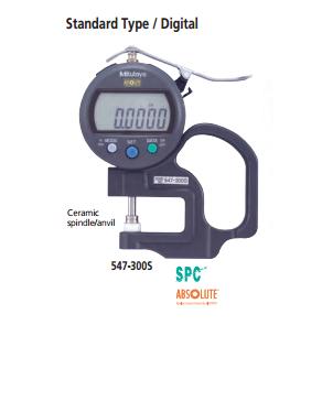 Digital thickness gauge. 547-300S MITUTOYO