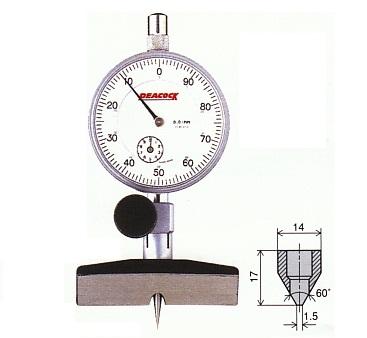 Dial depth gauge 10mm T-3 PEACOCK